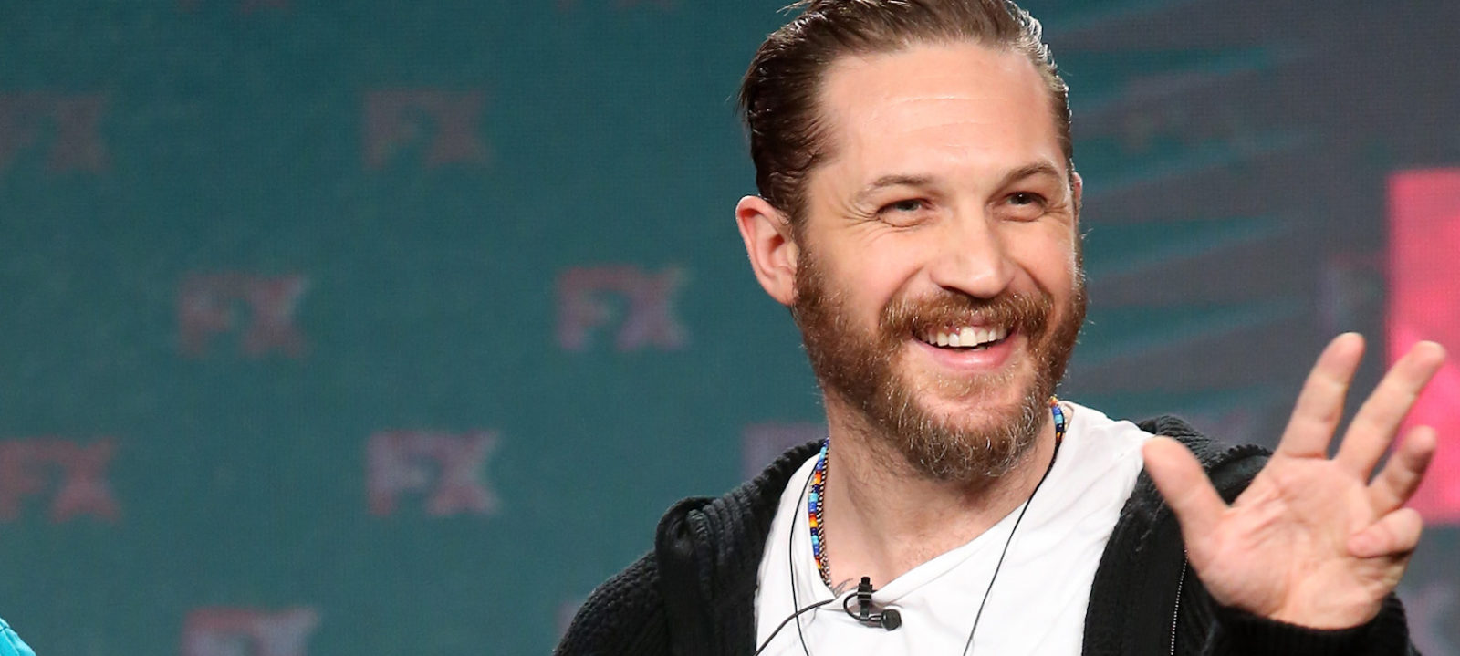 Creator/executive producer/actor Tom Hardy of the television show 'Taboo' speaks onstage during the FX portion of the 2017 Winter Television Critics Association Press Tour at Langham Hotel on January 12, 2017 in Pasadena, California