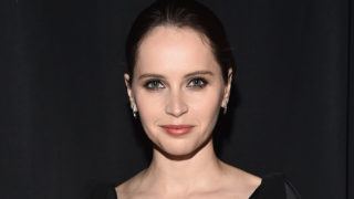 Actress Felicity Jones, recipient of the Award of Excellence in Acting, attends the CinemaCon Big Screen Achievement Awards brought to you by the Coca-Cola Company at The Colosseum at Caesars Palace during CinemaCon, the official convention of the National Association of Theatre Owners, on April 26, 2018 in Las Vegas, Nevada.