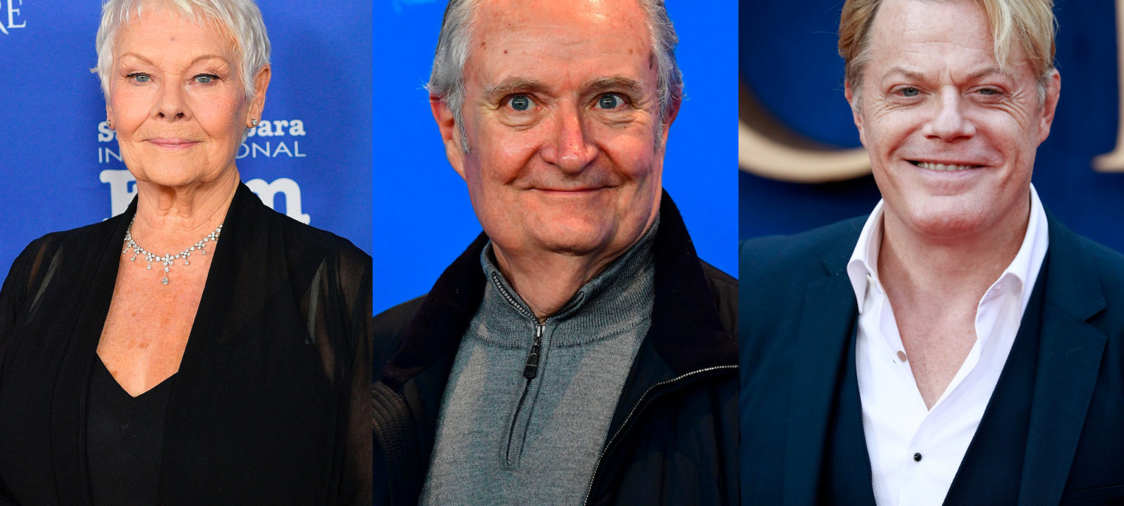 Composite image of Dame Judi Dench, Jim Broadbent and Eddie Izzard