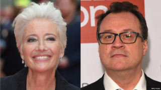 Composite image of Emma Thompson and Russell T. Davies