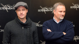 US actor Brad Pitt (L), starred in The C