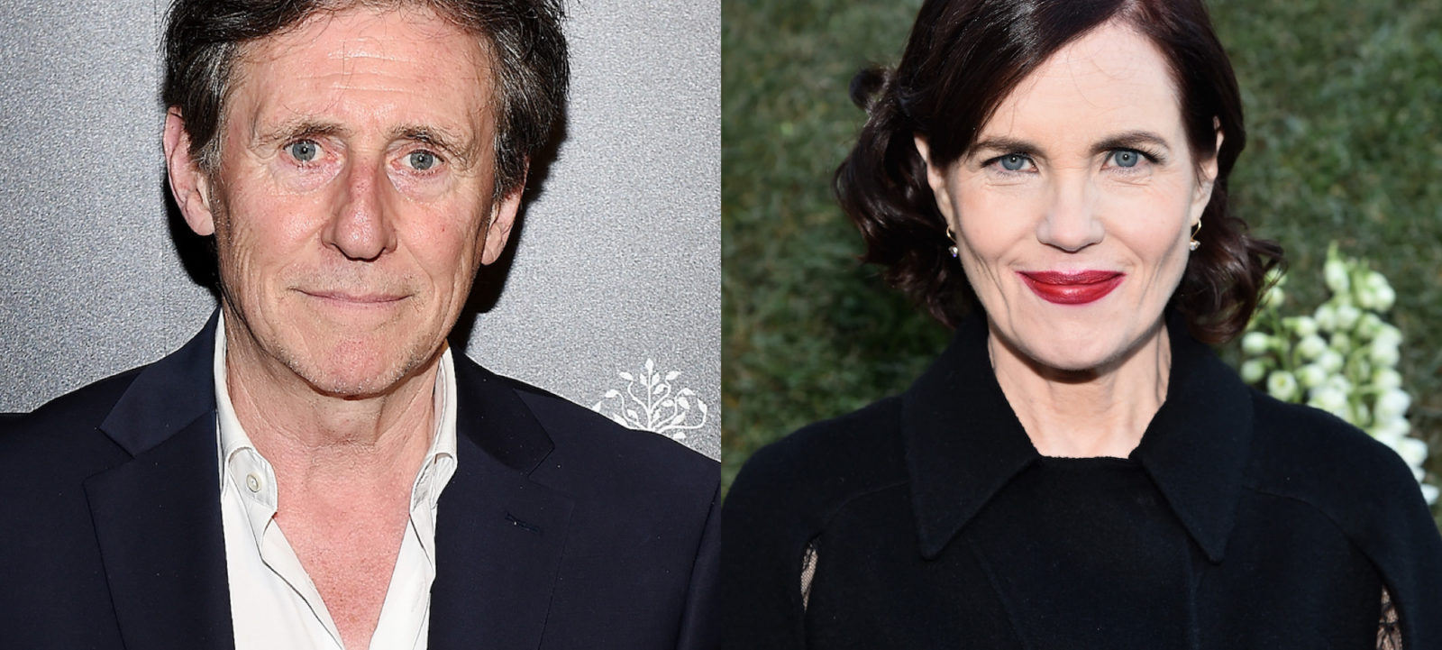 Composite image of Gabriel Byrne and Elizabeth McGovern.