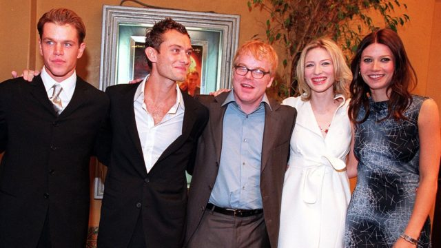 "The cast of ""The Talented Mr. Ripley"" pose at the"