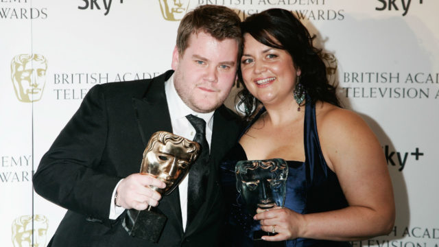 James Corden and Ruth Jones