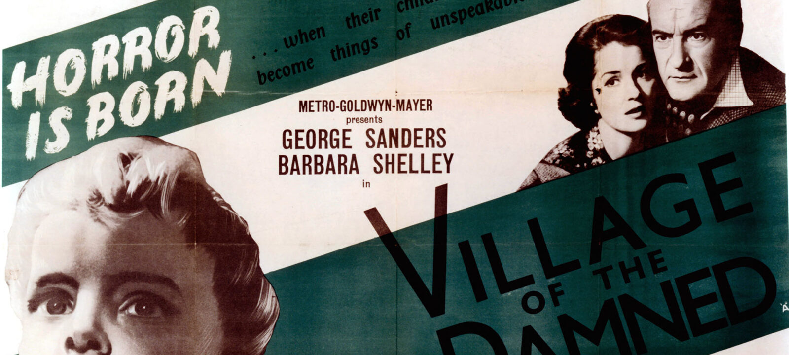 Barbara Shelley And George Sanders In 'Village Of The Damned'