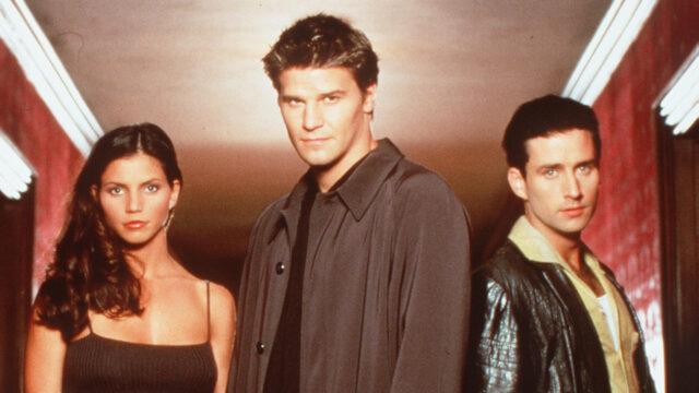 Charisma Carpenter David Boreanaz And Glenn Quinn Star In The TV Show Angel