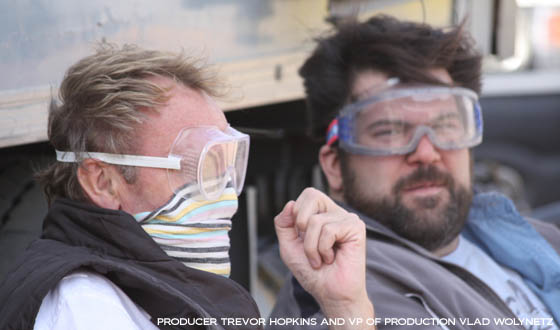 Production Diary Week 1- Actors and Dust Storms Arrive in Swakopmund