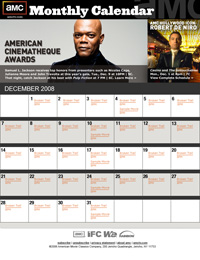 Sign-Up for the AMC Monthly Calendar