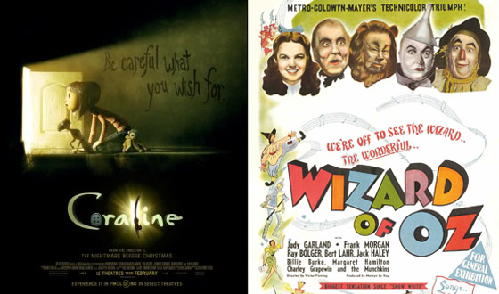 Now or Then &#8211; <I>Coraline</i> or <I>The Wizard of Oz</i>?
