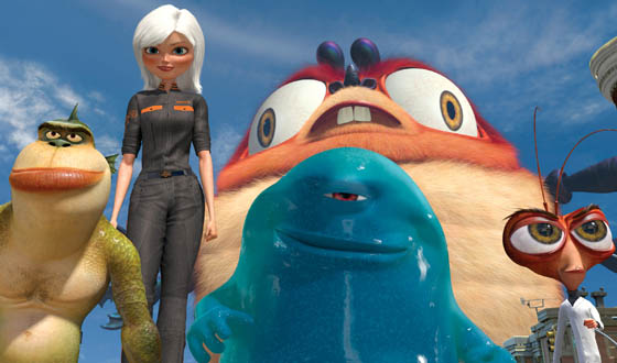 <em>Monsters vs. Aliens</em> Review – A Theme Park Ride and a Technological Exhibition
