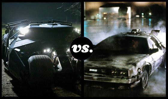 The Batmobile Takes On the DeLorean at 88 MPH