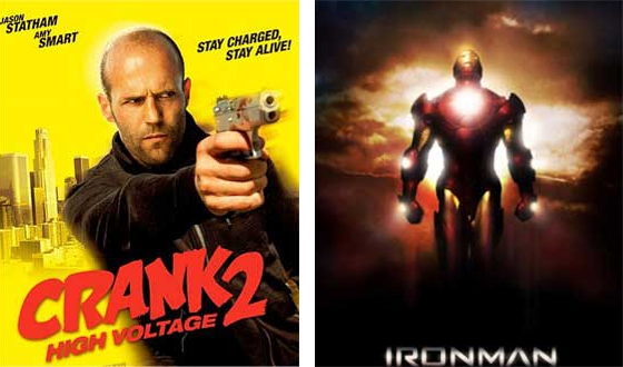 Now or Then – <i>Crank: High Voltage</i> or <i>Iron Man</i>?