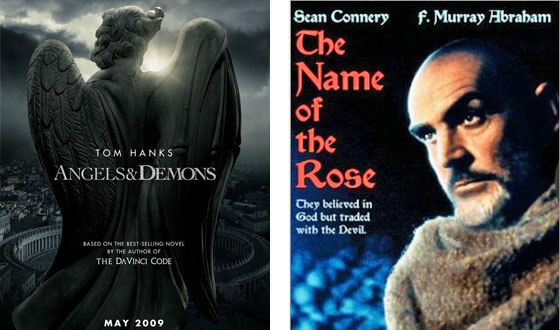 Now or Then – <i>Angels and Demons</i> or <i>The Name of the Rose</i>?