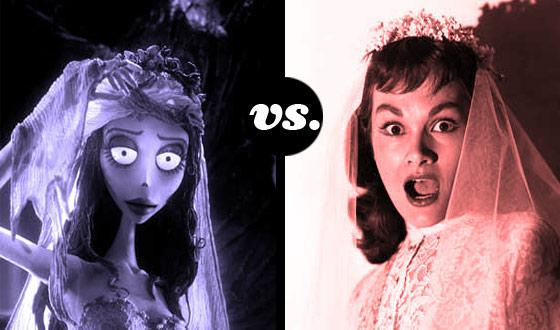 Horror Brides Tourney, Round One: <em>The Corpse Bride</em> (No. 5) vs. <em>I Married a Monster from Outer Space</em> (No. 12)