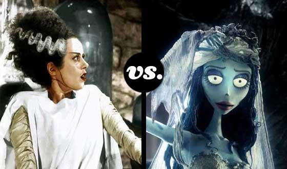 Horror Brides Tourney, Semifinals – <em>Bride of Frankenstein</em> (No. 1) vs. <em>The Corpse Bride</em> (No. 5)