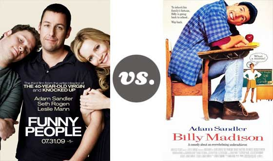One on One – Slapstick Adam Sandler Versus (Sort of) Serious Adam Sandler