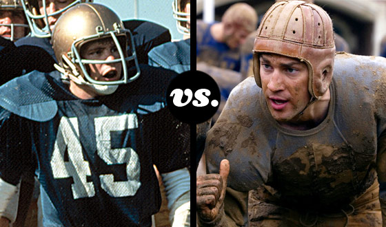 Hike! <em>Rudy</em> Takes on John Krasinski's <em>Leatherheads</em> in a Football Movie Throwdown