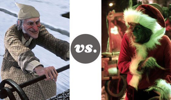 One on One – Jim Carrey as Scrooge Versus Jim Carrey as The Grinch