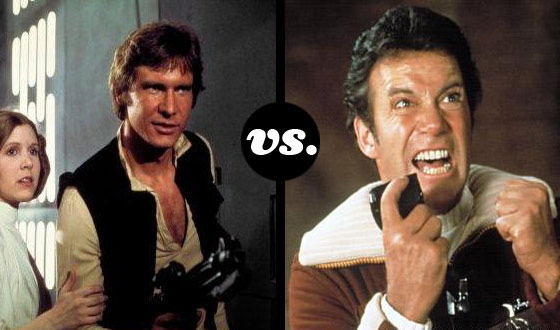 T-Minus 3, 2, 1… Han Solo Blasts Off to Face Capt. Kirk in a Tourney of Space Cowboys