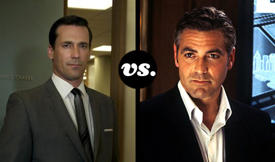 Can Jon Hamm's Smile Outshine George Clooney's in a Tournament of Lady-Killers?