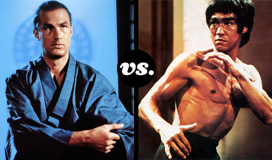 Steven Seagal and Bruce Lee Chop Toward Victory in a Tourney of Movie Martial Artists