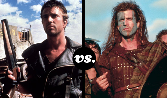 Mad Max and William Wallace Battle in a Tourney of Mel Gibson's Toughest Characters