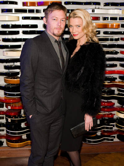Norman Reedus (Daryl) and Laurie Holden (Andrea) Attend Charity Bash