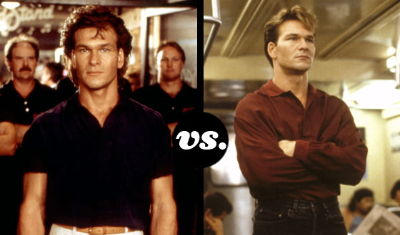 Underrated Tough Guy Patrick Swayze Finds His Characters From <em>Road House</em> and <em>Point Break</em> Locked in Battle