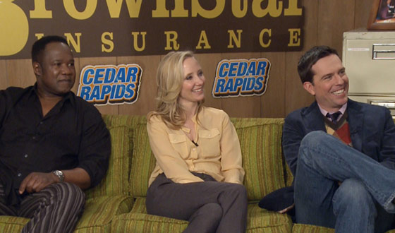 Sundance 2011 &#8211; Ed Helms and Anne Heche Talk Character Bonding in <em>Cedar Rapids</em>