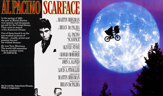 Photos – If <em>E.T.</em> Isn't the Greatest Movie Poster, What Is? <em>Scarface</em>, <em>The Godfather</em>?