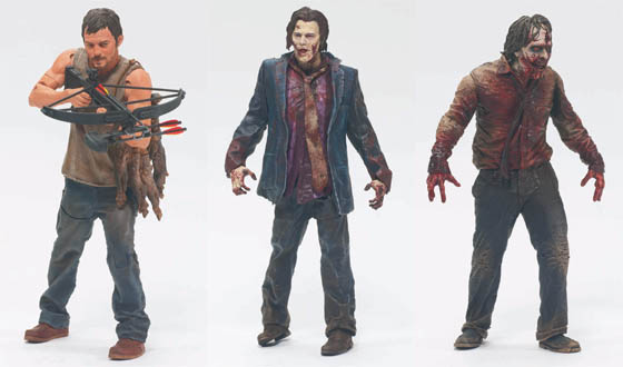 McFarlane Toys Presents Daryl, Zombie Walker and Zombie Biter Action Figures