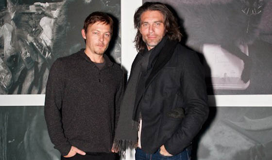 Norman Reedus Holds Charity Photo Exhibition With <em>Hell on Wheels</em> Star Anson Mount