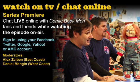 Chat Online While Watching the <em>Comic Book Men</em> Series Premiere This Sunday Night