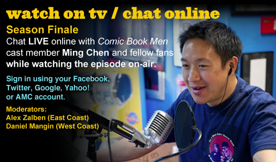 Chat Online With Ming Chen During the Season Finale of <em>Comic Book Men</em> This Sunday Night