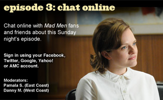 Chat Online About <em>Mad Men</em> Episode 3 on Sunday Night