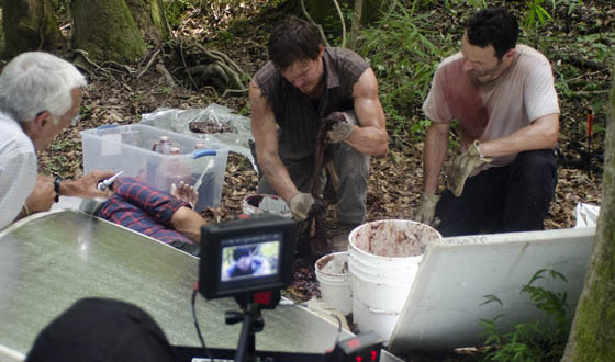 Behind-the-Scenes Photos From The Walking Dead Season 2