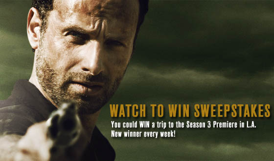 And <em>The Walking Dead</em> Watch to Win Sweepstakes Winners Are&#8230;