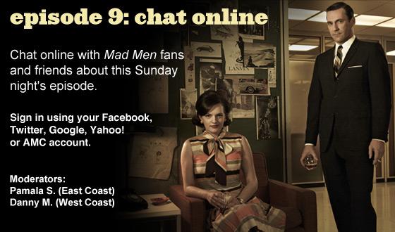 Chat Online About <em>Mad Men</em> Episode 9 on Sunday Night