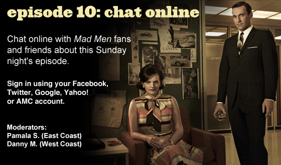 Chat Online About <em>Mad Men</em> Episode 10 on Sunday Night