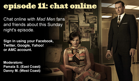 Chat Online About <em>Mad Men</em> Episode 11 on Sunday Night