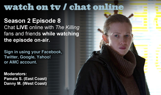 Chat Online About <em>The Killing</em> Season 2 Episode 8 This Sunday Night
