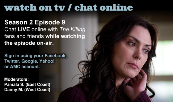 Chat Online About <em>The Killing</em> Season 2 Episode 9 This Sunday Night