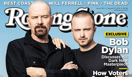 Bryan Cranston and Aaron Paul on <em>Rolling Stone</em> Cover; Vince Gilligan Chats With <em>Variety</em>