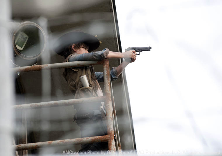 Carl Grimes (Chandler Riggs) in Episode 1 of The Walking Dead