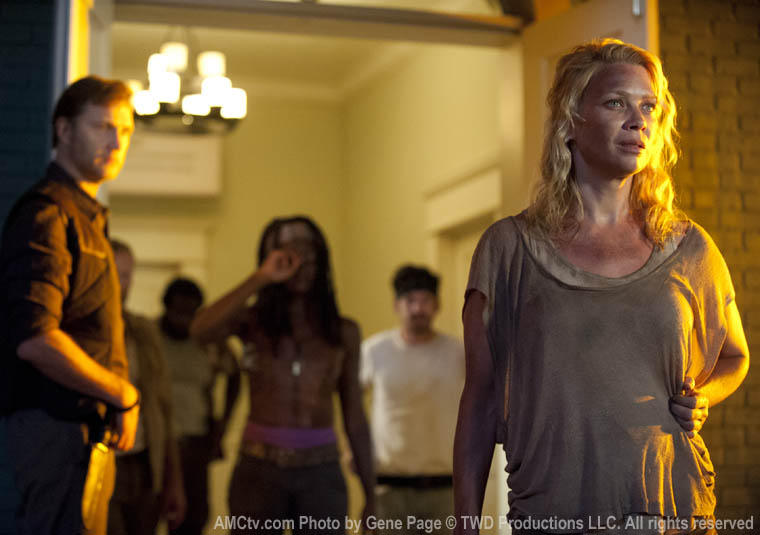 The Governor (David Morrissey), Michonne (Danai Gurira) and Andrea (Laurie Holden) in Episode 3 of The Walking Dead