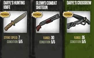 The Most Popular Weapons in <em>The Walking Dead</em> Social Game