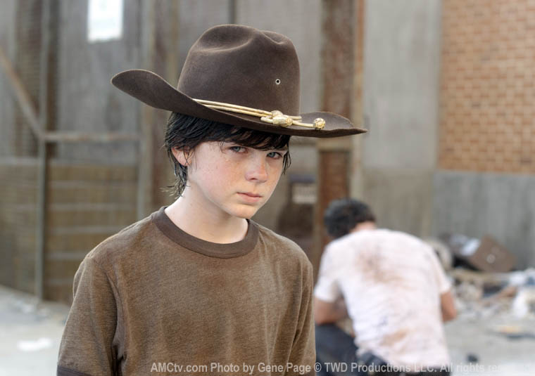Carl Grimes (Chandler Riggs) in Episode 4 of The Walking Dead
