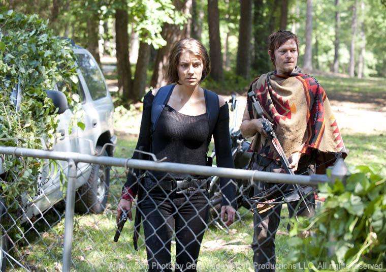 Maggie Greene (Lauren Cohan) and Daryl Dixon (Norman Reedus) in Episode 5 of The Walking Dead
