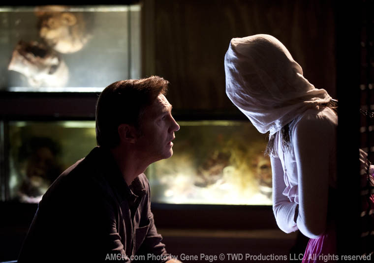 The Governor (David Morrissey) and Penny (Kylie Ann Szymanski) in Episode 8 of The Walking Dead