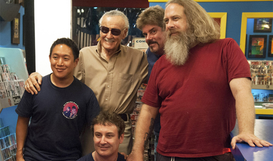 Photos &#8211; Stan Lee Visits <em>Comic Book Men</em>&#8216;s Secret Stash